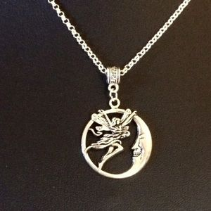 Jewelry - Moon, fairy silver necklace